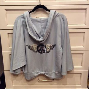 Gray pull over top